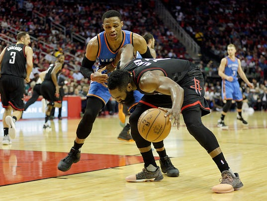 USP NBA: OKLAHOMA CITY THUNDER AT HOUSTON ROCKETS S BKN USA TX