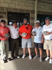 The winning team at the Sixth Annual DAV Golf Scramble