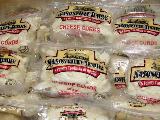 Nasonville Dairy's famous cheese curds can be found