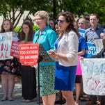Anti-abortion organization holds press conference in downtown P-cola