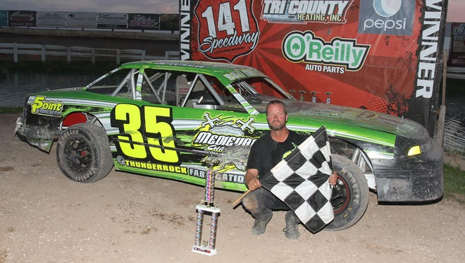 Snowmobile racer Paul Diefenthaler of Manitowoc has quickly become one of the top street stock drivers in the area.