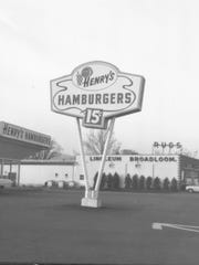 Henry's Hamburgers on the George F. Highway in Endwell around 1955.