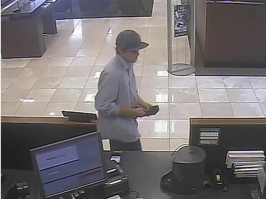 Surveillance image from an armed robbery at a North