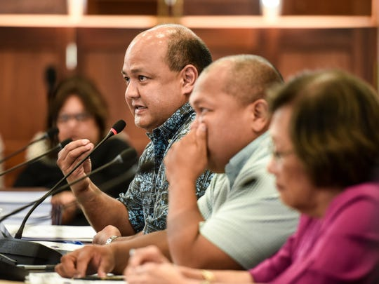 Guam Department of Education Superintendent Jon Fernandez answers a question during a budget hearing at the Guam Congress Building in this June 13, 2018, file photo.