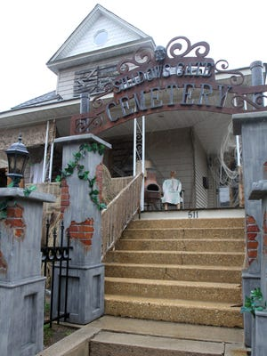 Robert Connors winner of our contest 'Who has the scariest house in Central Jersey located at 511 Main Street in Sayreville on Wednesday October 28,2015.