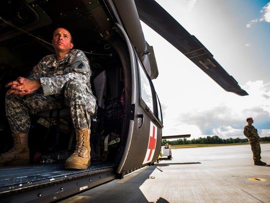 Vermont National Guard 1st Sgt. Derek Laferriere did