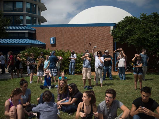Close to 3,000 people enjoyed the partial solar eclipse from Indian River State College, some at the Hallstrom Planetarium, according Jon Bell, planetarium director, on Aug. 21 in Fort Pierce.