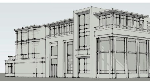 Christa Construction has proposed a mixed-use office and apartment building for 600 East Ave. in Rochester.