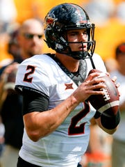 Oklahoma State quarterback Mason Rudolph is rocketing