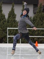 Stephanie Roth of Point Pleasant skates in January