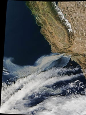 The Moderate Resolution Imaging Spectroradiometer (MODIS) on NASA's Terra satellite captured this natural-color image the afternoon of Dec. 5.