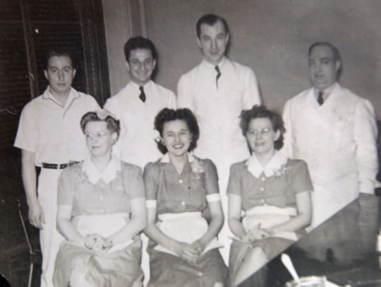 An undated photo of workers at Red Apple Rest.