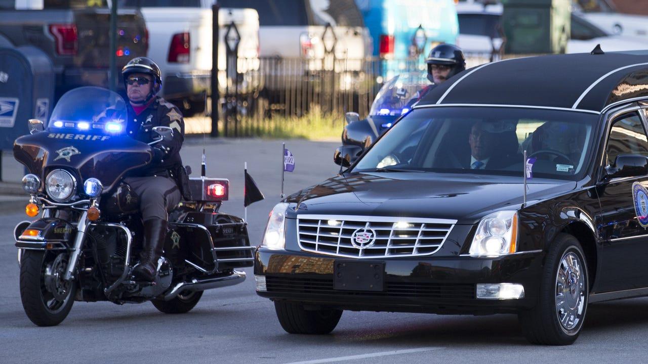Body of Lt. Aaron Allan arrives for funeral