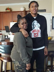 Latonya Smith with her son, Cyree Watson, who was killed