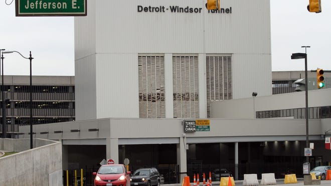 This is an exterior photo of the Detroit Windsor Tunnel. The view from Jefferson on Monday, December 17, 2012. JESSICA J. TREVINO/Detroit Free Press