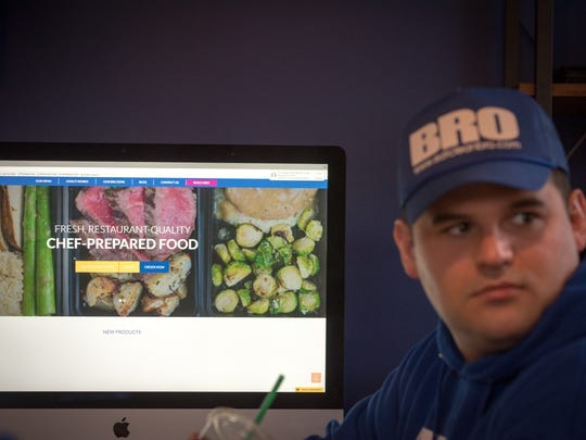 Jamie Giovinazzo is the President and Founder of Eat Clean Bro in Freehold. Eat Clean Bro delivers all-natural, prepared meals to businesses and residents. /Russ DeSantis for the Asbury Park Press / Slug:ASB 0402 Innovators
