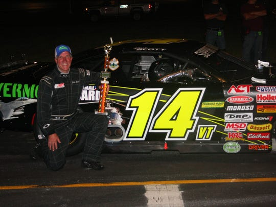 Phil Scott captured his first Late Model win at Thunder Road since being named Vermont governor on July 6.