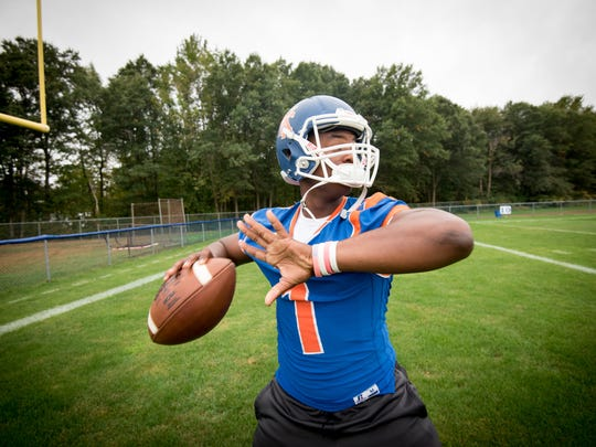 Keansburg quarterback Daniel Vital is the Football Offensive Player of the Week. /Russ DeSantis for the Asbury Park Press / Slug:ASB 01012 FB Offensive POW
