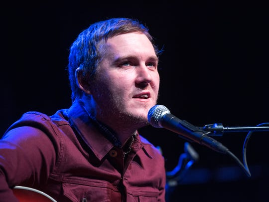 Brian Fallon from the Gaslight Anthem, gave a solo, acoustic performance at the Count Basie Theatre in Red Bank on Sunday, January 14, 2018. /Russ DeSantis for the Asbury Park Press