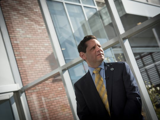 Jersey Shore University Medical Center is soon to unveil its new 10-story tower. Kenneth Sable, MD, and President of the hospital gave a tour of the new tower which is still being readied for the opening.  /Russ DeSantis for the Asbury Park Press