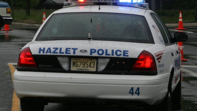 Two people suffered injuries Tuesday night in an incident involving a vehicle on Beers Street, Hazlet police said.