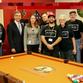 Pool table donation; Photo 1 (L to R): Chris Thogersen, Dr. David Borofsky, Christine Manson, David Cravens, Ray Patch, Larry Cravens, Gary Robinson and Mauricio Rodriguez;