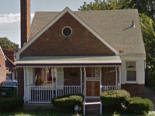 Fugitive Mark Jones, alias Jerrell Hayworth, and other people allegedly used this home in the 1500 block of Bringard in Detroit as a stash house for money and drugs, federal prosecutors say.