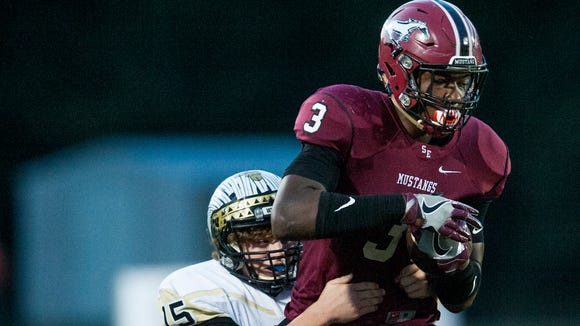Stanhope Elmore's Zech Byrd (3) has offers from Florida, Alabama, Michigan and several other schools.