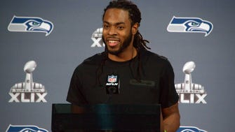 Seattle  Seahawks cornerback Richard Sherman and his girlfriend, Ashley Moss, are expecting a child any day now.