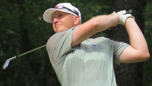 Pro Grant Sturgeon of Arcola CC is one shot off the