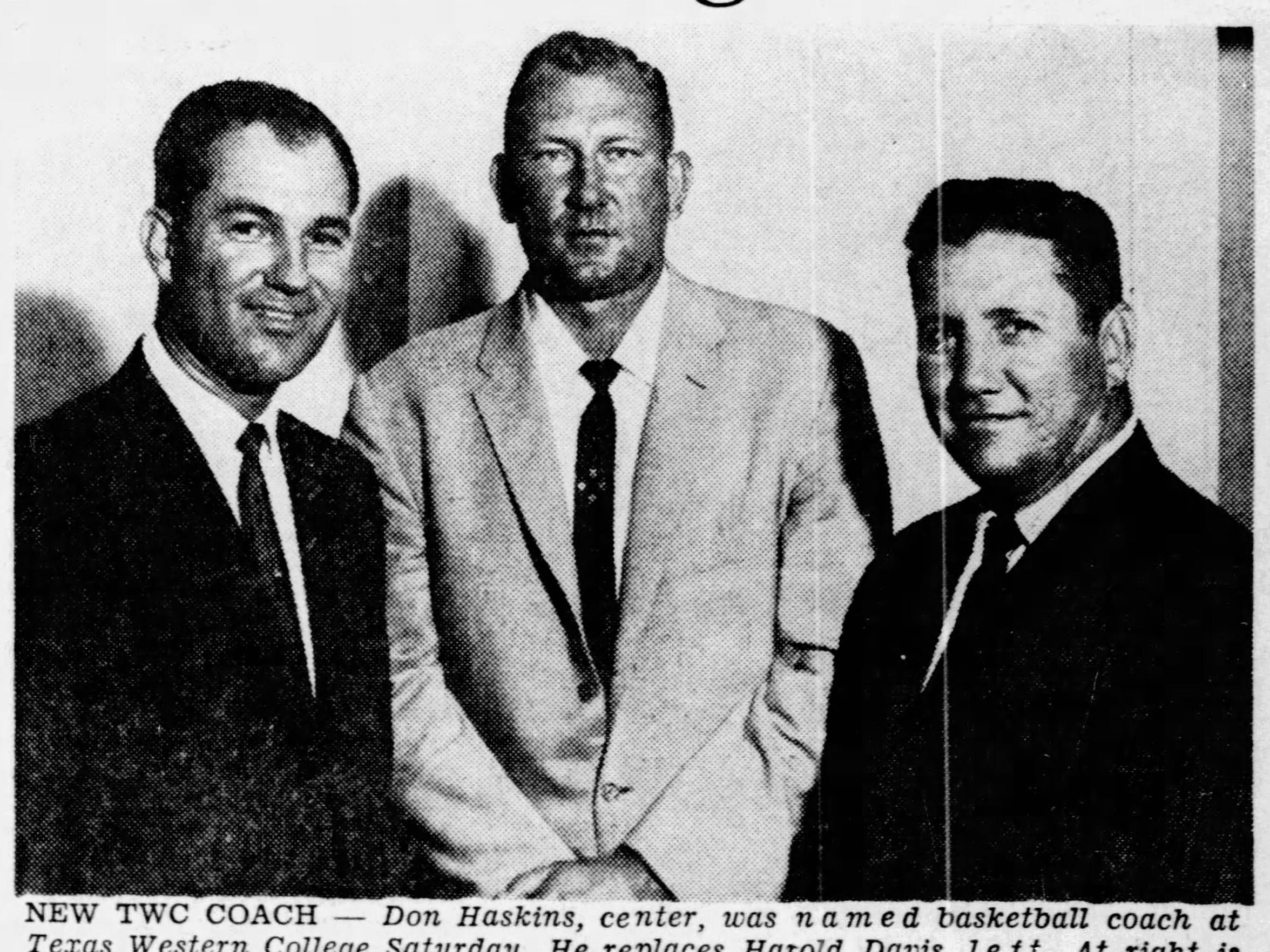 Harold Davis, from left, Don Haskins and Ben Collins.