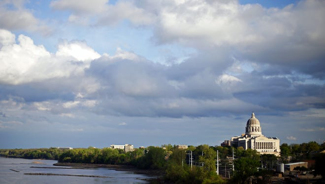 The Missouri State Capitol overlooks the Missouri River in Jefferson City.