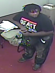 An armed-robbery suspect.
