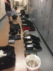 Firearms, ammunition and magazines were seized after