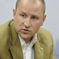 Michael Kelsey meets with the Poughkeepsie Journal Editorial Board in this Sept. 30, 2014 file photo.