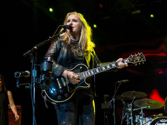 Melissa Etheridge performs during the Festival d'ete de Quebec on Thursday, July 6, 2017, in Quebec City, Canada.