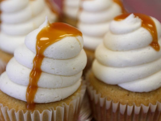 Salted caramel cupcakes from Perfectly Scrumptious