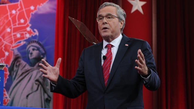 Former Florida governor Jeb Bush speaks at the Conservative Political Action Conference on Feb. 27, 2015.