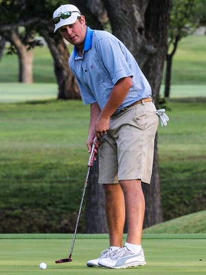 John Duke Hudson (putting) teamed up with Colton Williams to win the San Angelo Country Club Men's Partnership for the third straight year on Sunday, June 28, 2020. Hudson has now won six of the last eight titles with different partners.