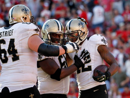 New Orleans Saints wide receiver Marques Colston (12)
