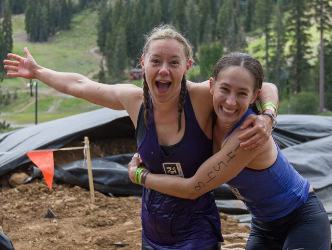 A photograph taken during the Tough Mudder at Tahoe