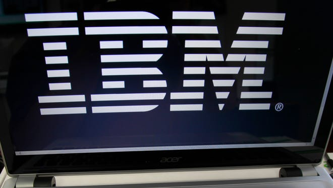 IBM may reported profit on Monday.