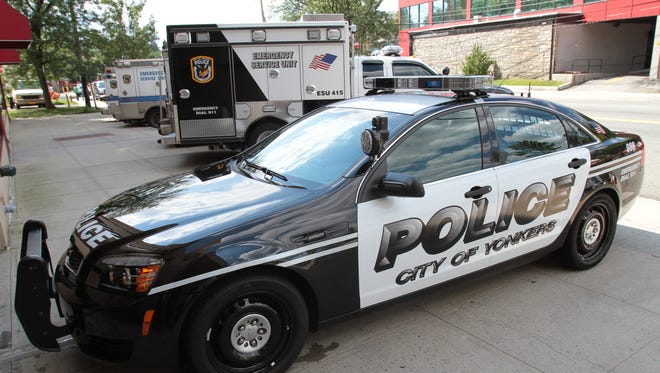 A Yonkers police cruiser