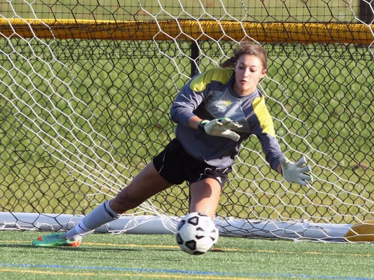 South Brunswick goalie Sydney Schneider made six saves