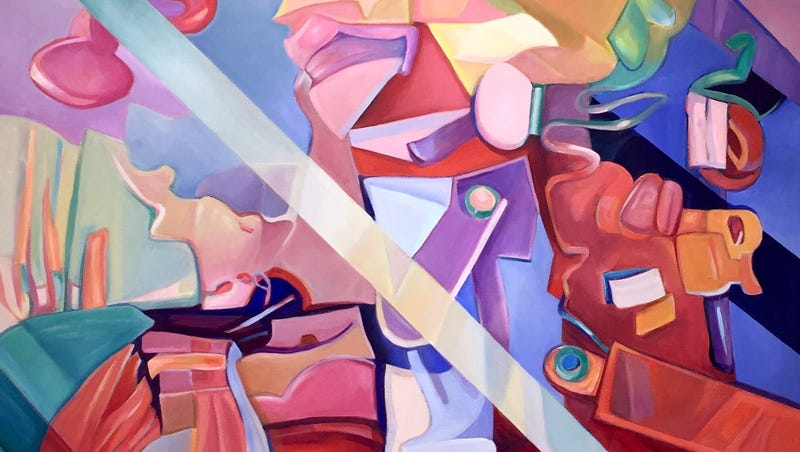 Oil paintings on display at Plainsboro Library