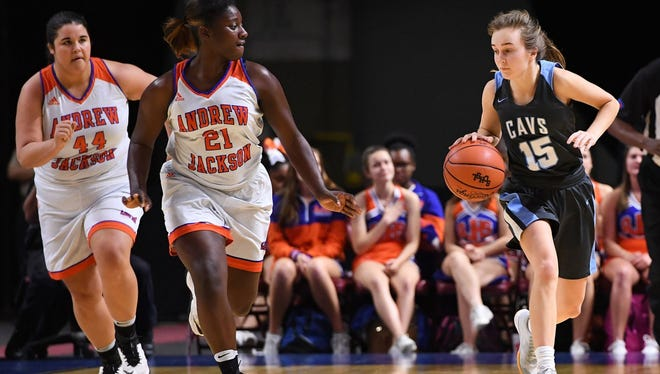 Paula Pieper (15) and the Christ Church Cavaliers will play in their third straight state final when they take on Mullins at 11 a.m. Saturday at Colonial Life Arena in Columbia.
