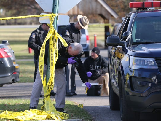 Investigators on scene of Newark fatal stabbing.