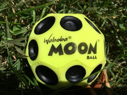 A Waboba Moon Ball will be used as the golden snitch in the Hogwarts Homecoming Quidditch Games on Sept. 22, 2017 at Staunton, Virginia's Queen City Mischief & Magic. When you bounce the Waboba Moon ball on asphalt, it goes in different directions which helps to create the magic of the snitch in the Harry Potter books and films.