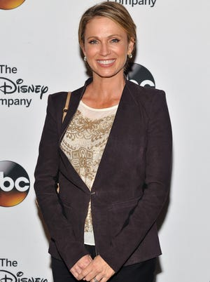 Amy Robach attends A Celebration of Barbara Walters Cocktail Reception Red Carpet at the Four Seasons Restaurant on May 14, 2014 in New York City.