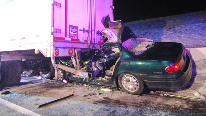 It took rescue crews more than half an hour to free the driver of a car that struck the rear of a tractor-trailer carrying dog food on northbound I-95 near Churchmans Road early Monday. The accident happened about 2:30 a.m. and northbound traffic was reduced to one lane for more than an hour. Christiana, Belvedere and Minquas firefighters responded as well as New Castle County medics and Delaware State Police. The driver was taken to Christiana Hospital.